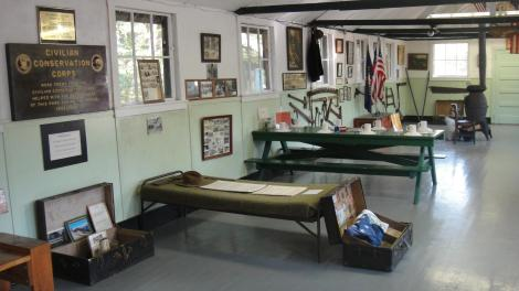Inside the CCC Museum.
