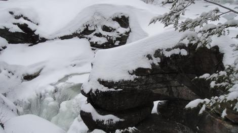 The top of Screw Auger Falls in Grafton Notch, Maine.
