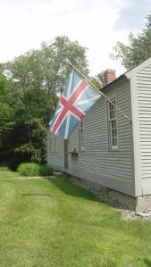 Does this Union Jack look different?  That's because it's the flag from the 1760's.
