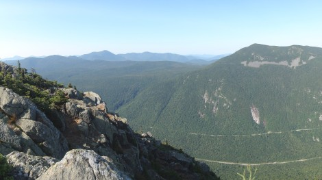 View of Crawford Notch from Mt Webster