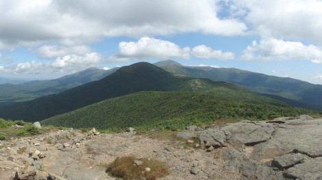 From Mt Pierce with Mt Washington in the distance