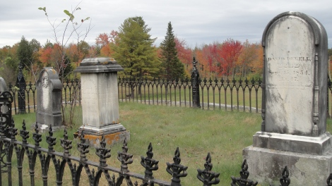 An intriguing small cemetery far from everywhere