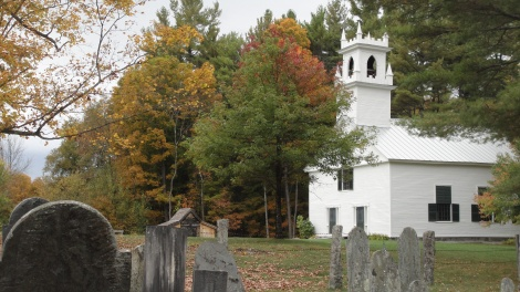 Bradford Center church and old graveyard