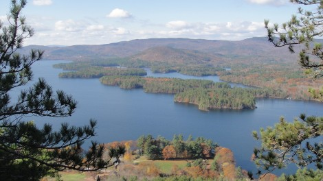 Squam Lake and Rattlesnake Mountain from Eagle Cliff