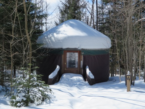 This yurt looks so cozy!