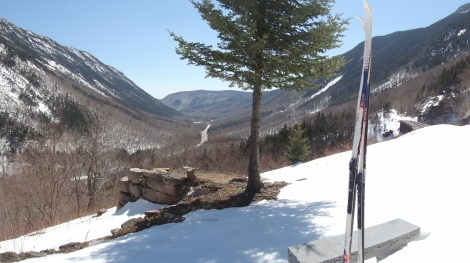 View from the Mt. Willard Section House site.  Can you imagine growing up here?