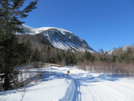 Franconia Notch bike path  - great for snowmobiles and skis alike