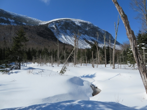 Towards Cannon Mountain in Franconia Notch State Park from the Pemi Trail