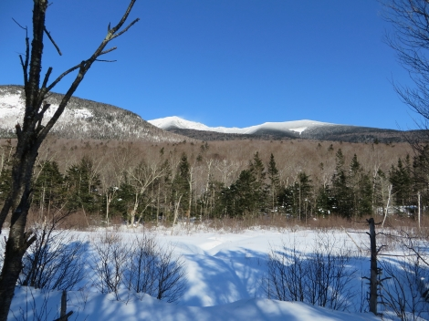 Towards Mt. Lafayette from the trail