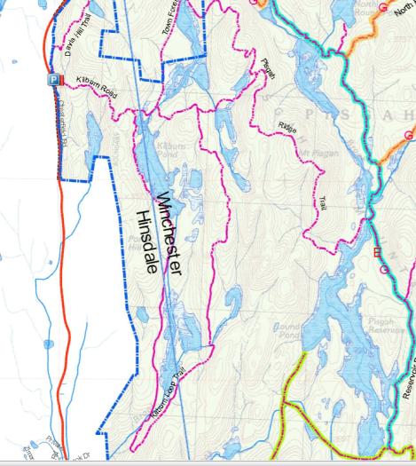 Pisgah Trail Map