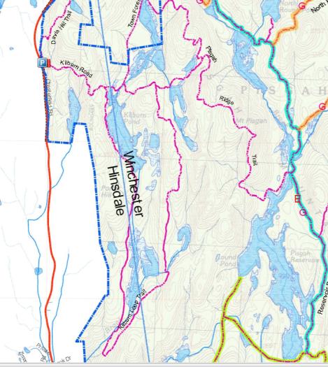 Pisgah Trail Map