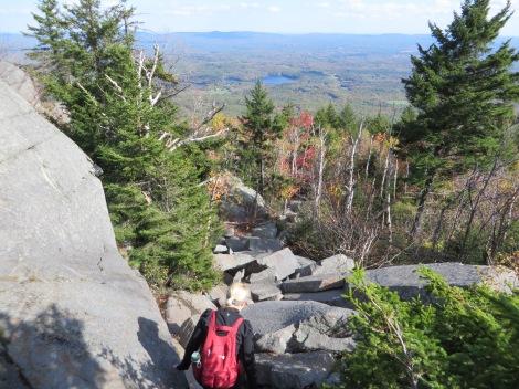 Descending the Red Spot Trail