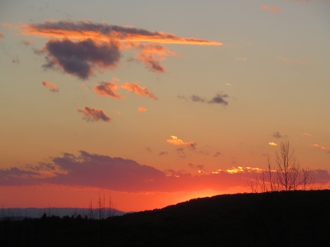 A sunset on the way home.  NH color at it's best!