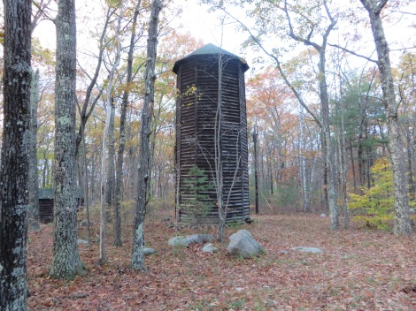 The old CCC-built water tower at Bear Hill Pond Camp