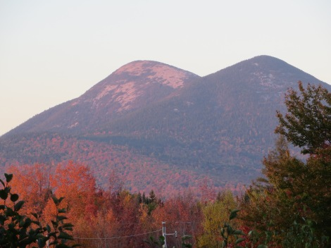 The Percy Peaks at sunset