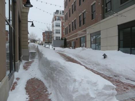 "Drifting snow made the sidewalks even more ""intimate"""
