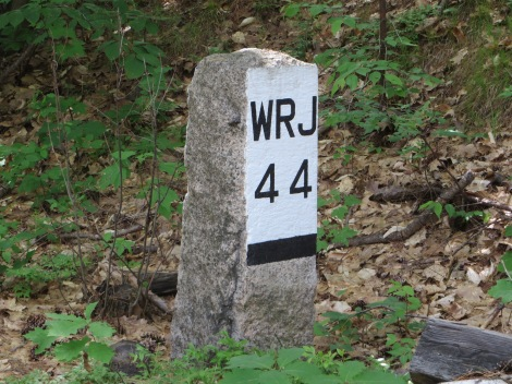 Restored mile markers - 44 miles to White River Junction