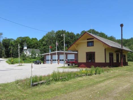 The restored station in Fitzwilliam NH