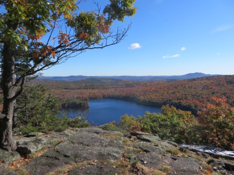 View of Willard Pond from Bald Mountain