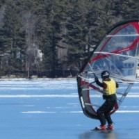 Walking on Water - Lake Sunapee in Winter