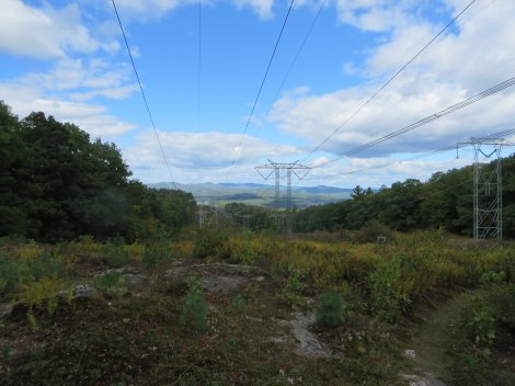 View from a powerline leaves something to be desired